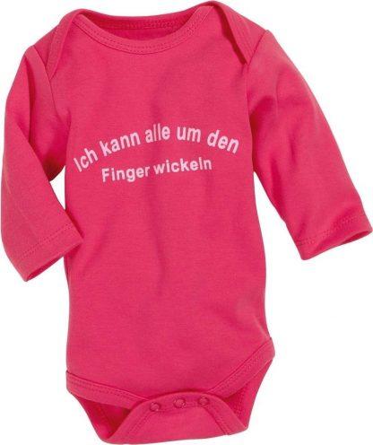 Schnizler Romper Lage Mouw Junior Katoen Roze/wit Mt 74/80