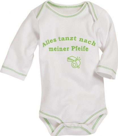 Schnizler Romper Lange Mouw Junior Katoen Beige/groen Mt 74/80