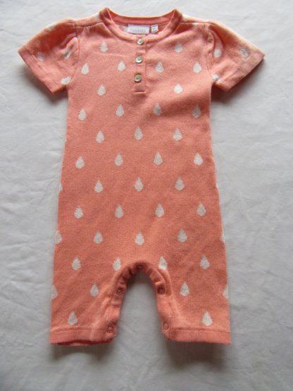 noukie's , combi kort , meisje , orange met witte druppel , 6 maand 68