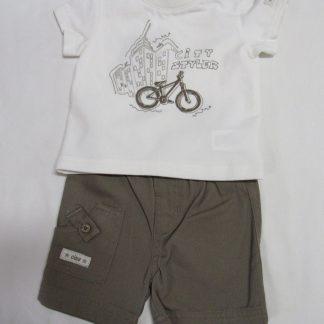 wiplala, kledingset , tshirt + korte broek , city styler, 3 maand 62